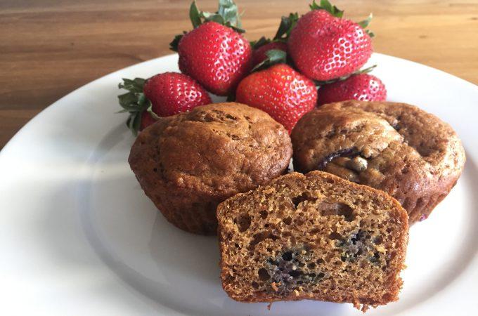 Healthy-ish Blueberry Banana Muffins