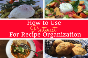 Pinterest for Recipe Organization