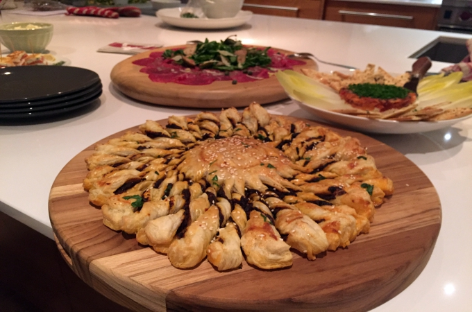 Cooking Club Holiday Appetizers Tarte Soleil